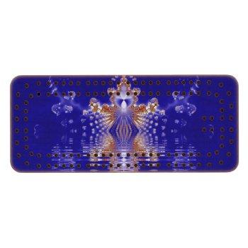 Crown Lake Blue Crystal Fractal Cribbage Board
