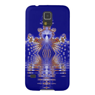 Crown Lake Blue Crystal Fractal Galaxy S5 Case