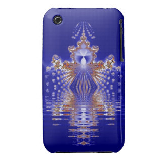Crown Lake Blue Crystal Fractal iPhone 3 Case-Mate Case
