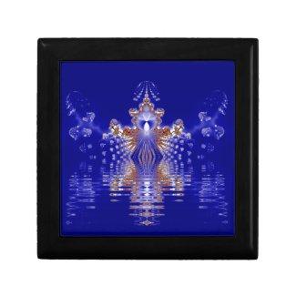 Crown Lake Blue Crystal Fractal Keepsake Boxes