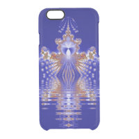 Crown Lake Blue Crystal Fractal Uncommon Clearly™ Deflector iPhone 6 Case