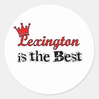 Crown Lexington Round Stickers