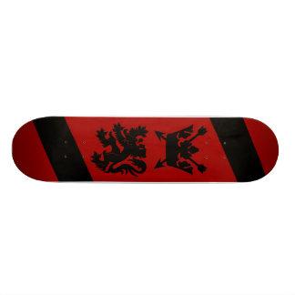 Crown & Lion Red & Black Skateboard