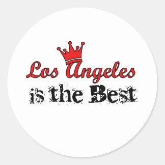 Crown Los Angeles Classic Round Sticker