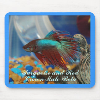 Crown Male Beta Fish Mousepad