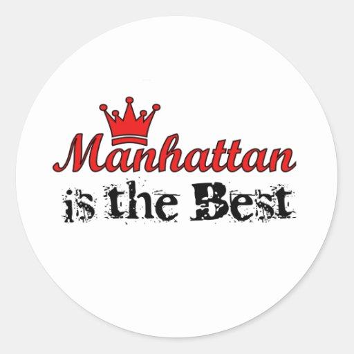 Crown Manhattan Classic Round Sticker