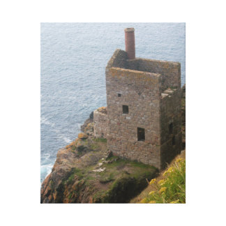 Crown Mines Botallack Cornwall England Gallery Wrapped Canvas