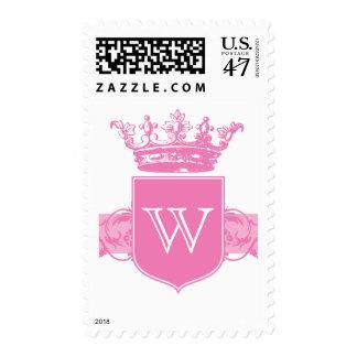 Crown Monogram Pink Stamp