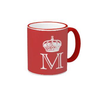 Crown Monogram Ringer Mug