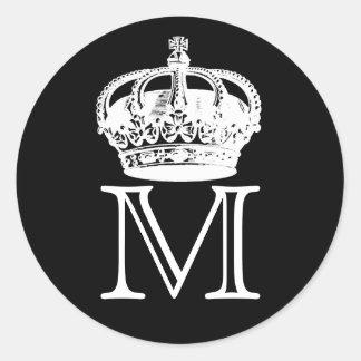Crown Monogram Stickers