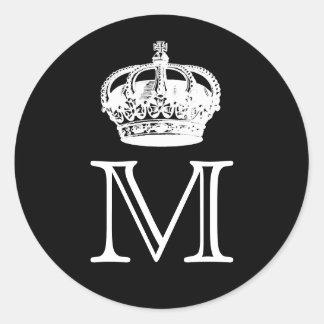 Crown Monogram Sticker