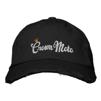 Crown Moto (original script) Embroidered Baseball Hat