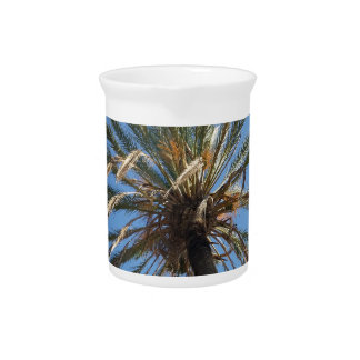 crown of a palm tree drink pitcher
