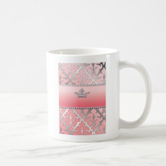 Crown of Glory Damask Diamond Gifts Classic White Coffee Mug