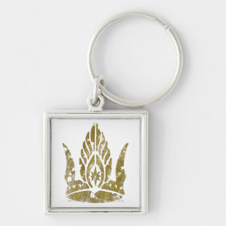 Crown of Gondor Silver-Colored Square Keychain