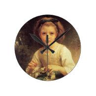 Crown of grass flower clock