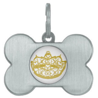 Crown Of Hearts Pet Tag by Kristie Hubler