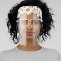 Crown of Real Daisy Flowers Hippie Flower Child Face Shield