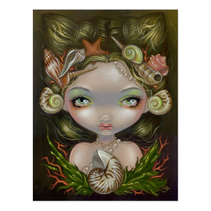 """Crown of Shells"" Postcard"
