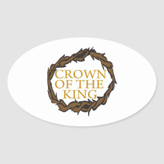 Crown Of The King Oval Sticker