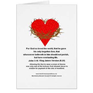 Crown of Thorns Around a Heart Card