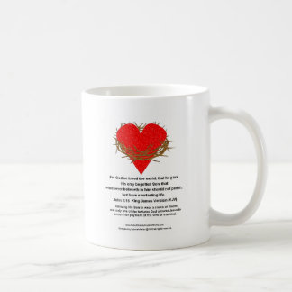 Crown of Thorns Around a Heart Coffee Mug