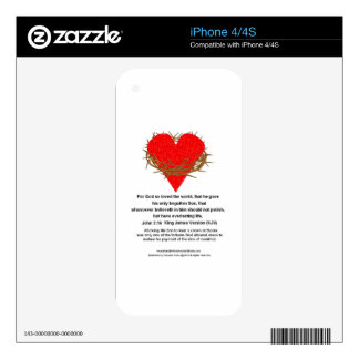 Crown of Thorns Around a Heart Skin For iPhone 4S