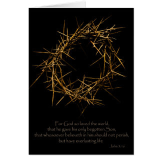 Crown of Thorns Card