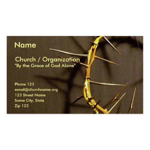 Crown of Thorns Card II Business Cards
