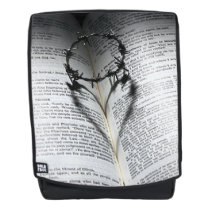 Crown of Thorns Heart and Bible Backpack