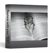 Crown of Thorns Heart and Bible Binder