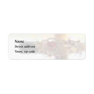 Crown-of-Thorns Return Address Label