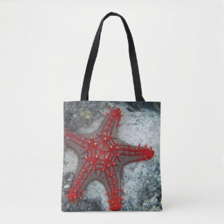 Crown Of Thorns Starfish On The Coral Reef Tote Bag