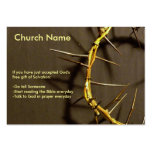 Crown of Thorns Tract Large Business Card