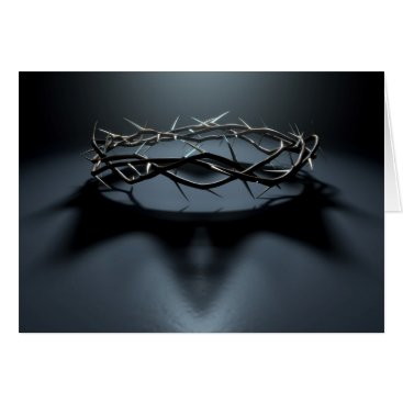 Faith_And_Pixels Crown Of Thorns With Royal Crown Shadow Card