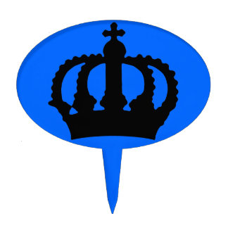 Crown on Blue Cake Topper