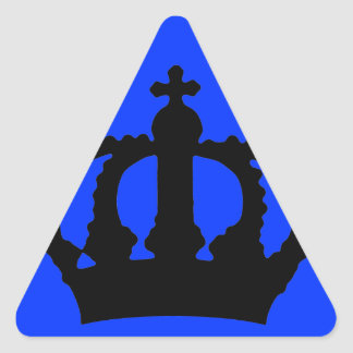 Crown on Blue Stickers
