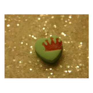 Crown on Heart Candy Postcard