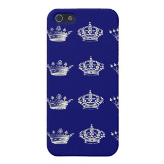 Crown Pattern in White Cover For iPhone SE/5/5s