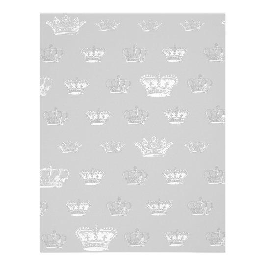 Crown Pattern in White Letterhead