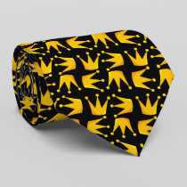 Crown Pattern Neck Tie