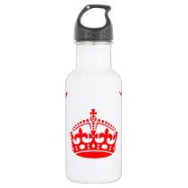 Crown Pattern Stainless Steel Water Bottle