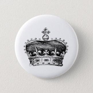 Crown Pinback Button