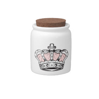 Crown - Pink Candy Dish