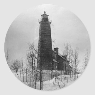 Crown Point Lighthouse Classic Round Sticker