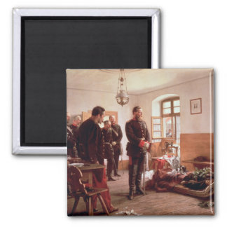 Crown Prince Frederick by the corpse 2 Inch Square Magnet