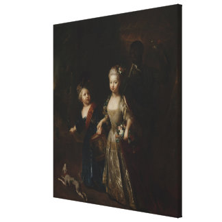 Crown Prince Frederick II with sister Canvas Print