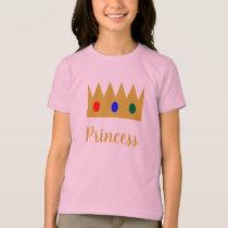 Crown Princess Jewels Brushstroke Brush Script T-Shirt