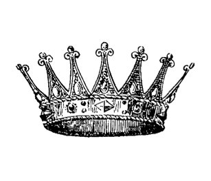 Crown Princess Rubber Stamp