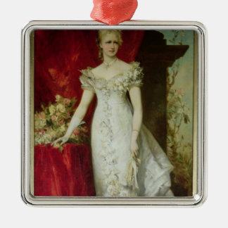 Crown Princess Stephanie of Belgium Metal Ornament